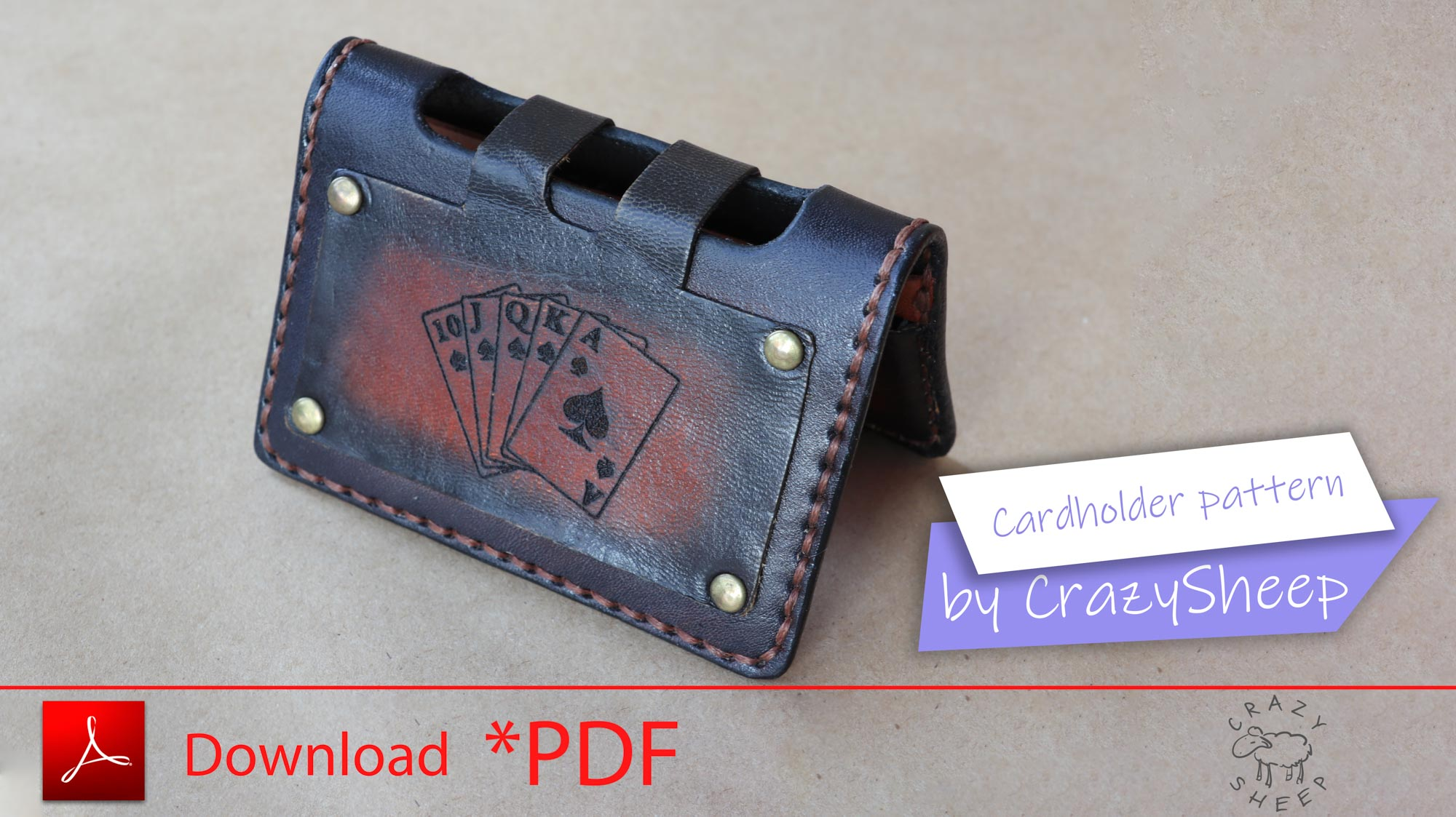 Steampunk card holder