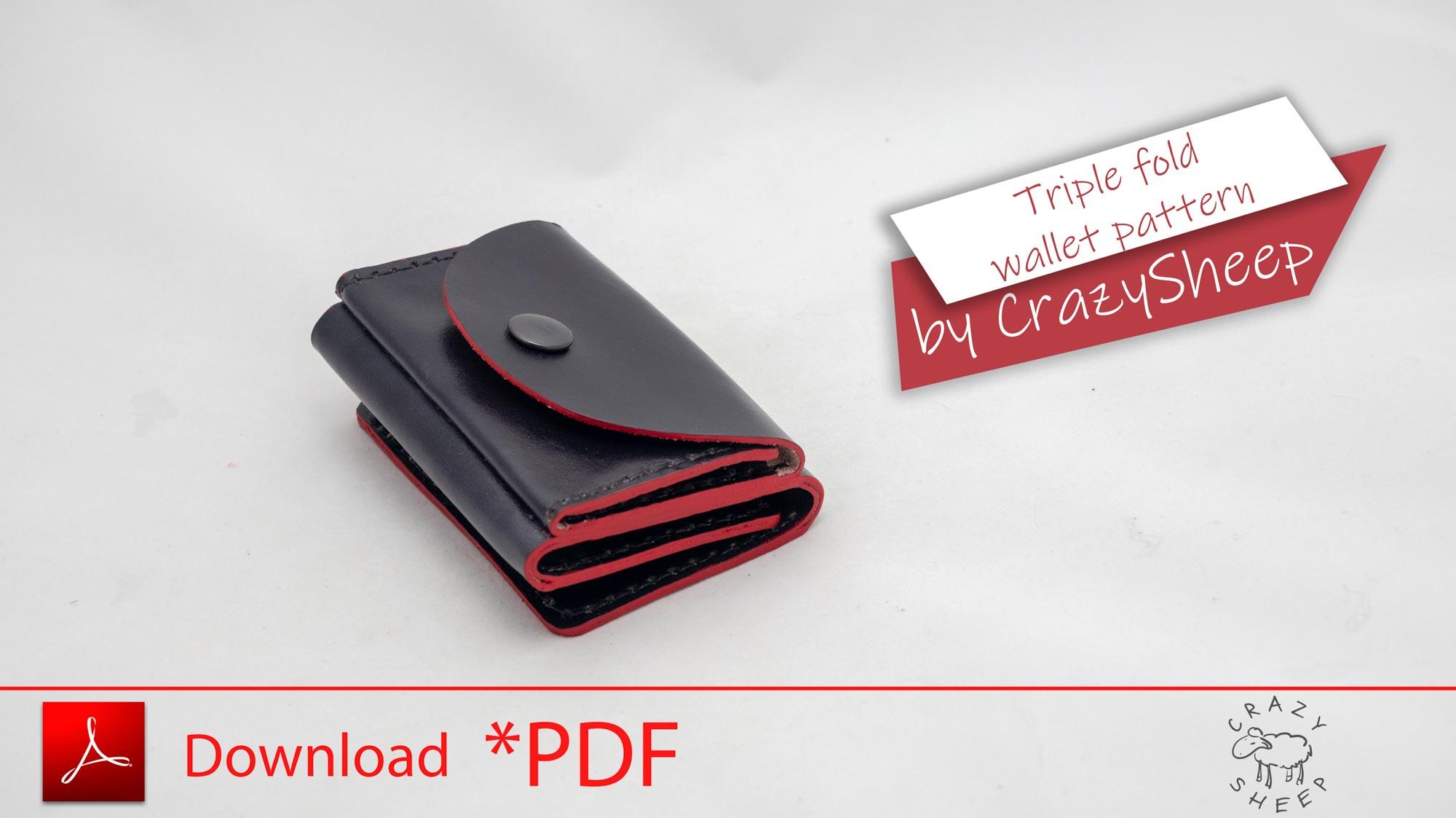 Triple fold wallet